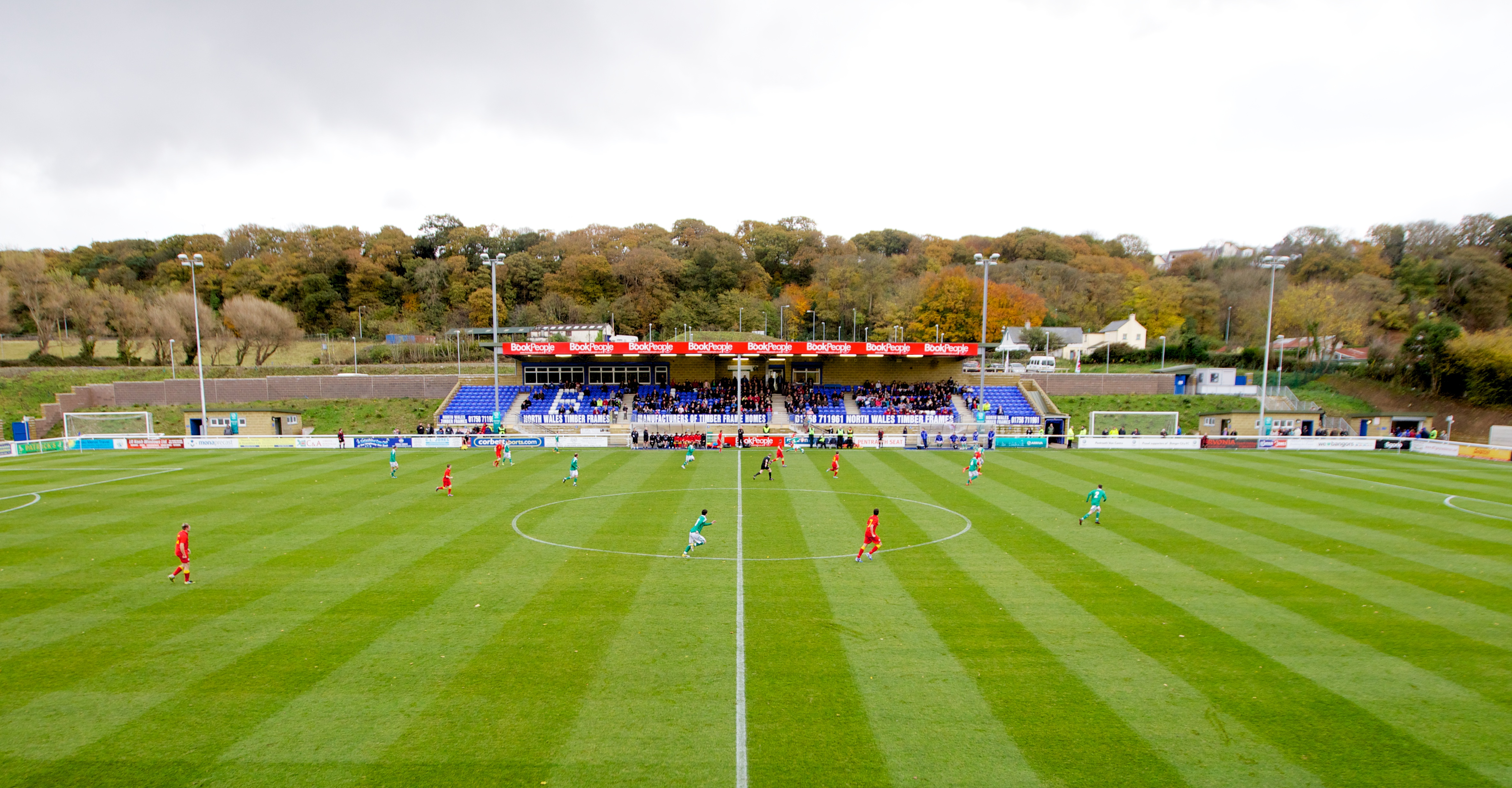 Sky Sports Cameras for Victory Shield fixture at Bangor City