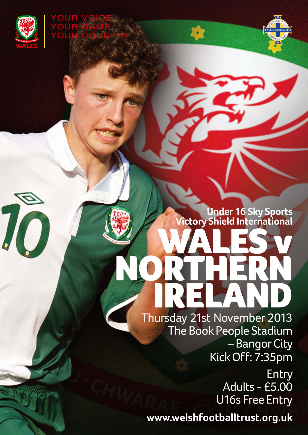 Wales Boys U16 Squad named for Northern Ireland