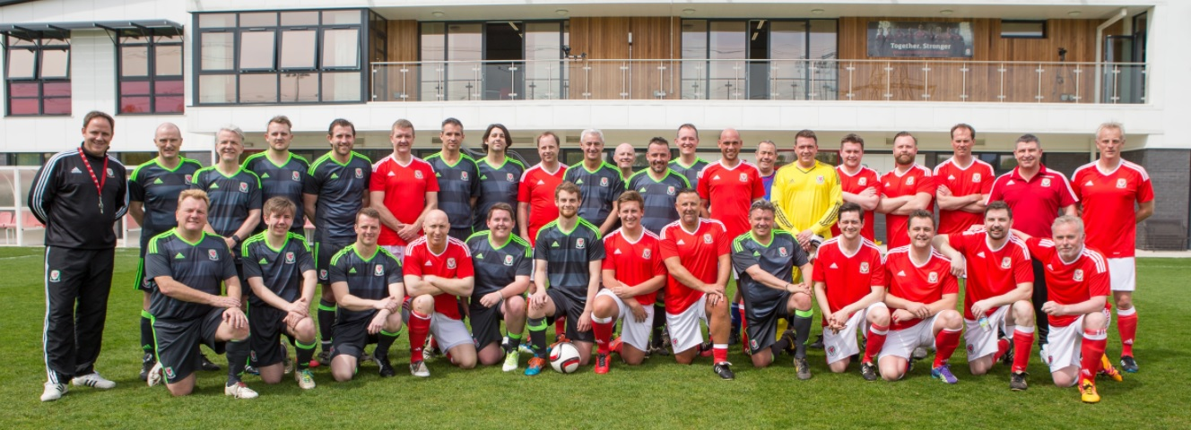 Wales legends Ian Rush and Mickey Thomas joined business leaders in charity CEO Kickabout