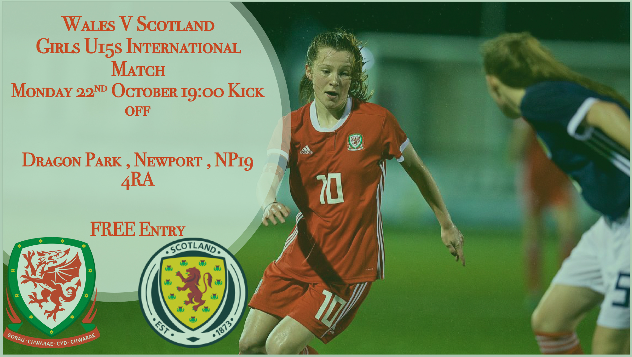Here's the Wales U15 Girls' Squad to face Scotland