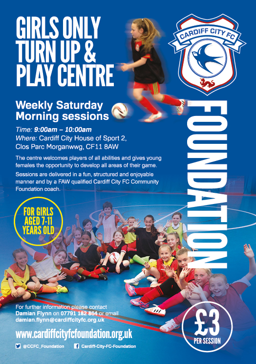 Cardiff City FC Foundation Offering Weekly Girls Only Football Sessions