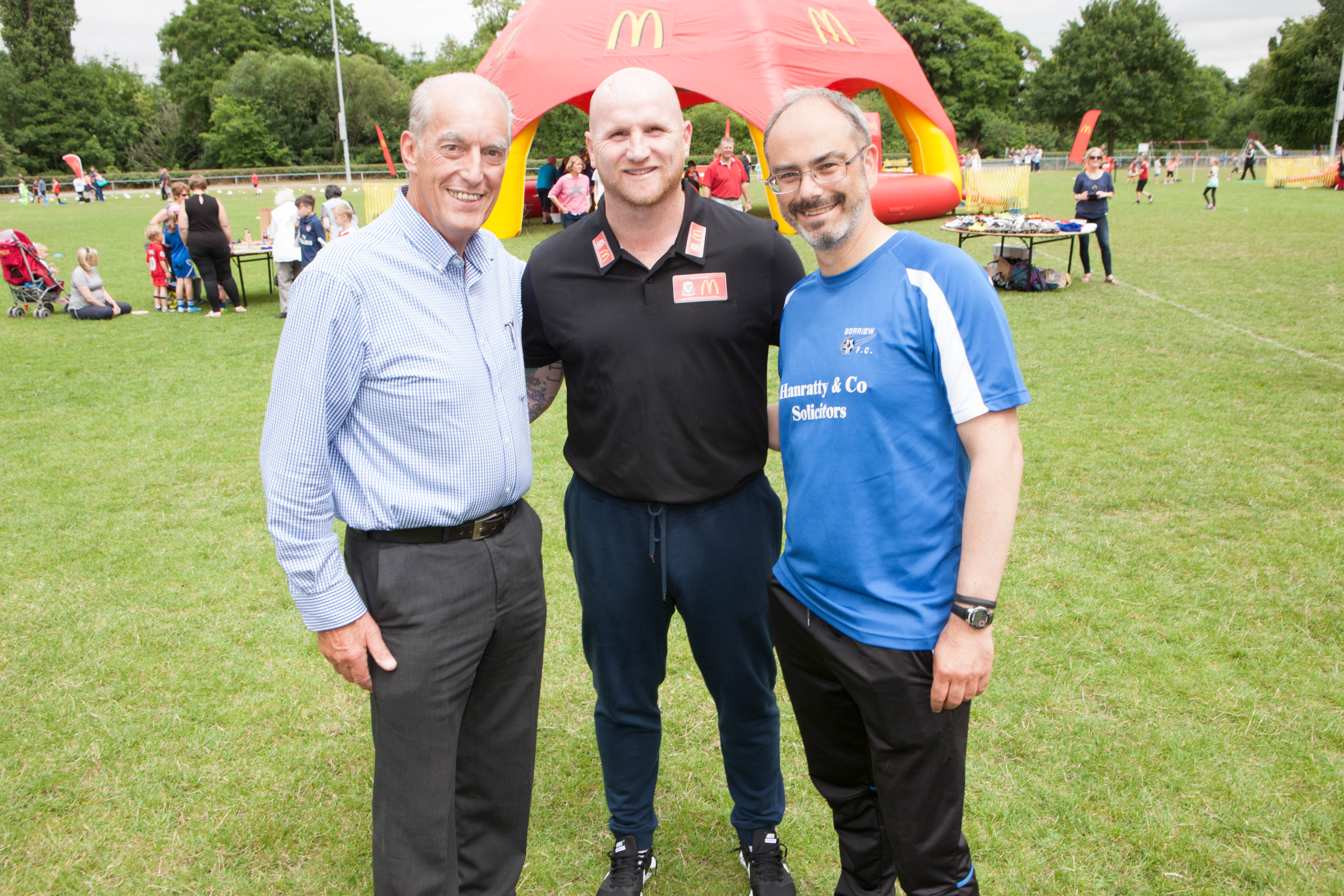 John Hartson visit delights youngsters at McDonald's Community Football Day