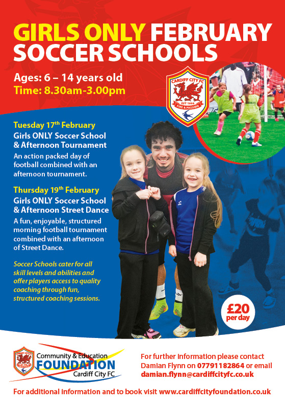 Cardiff City offer Half Term Girls Football Opportunities