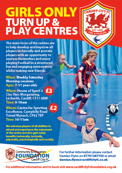 Girls why not just Turn Up and Play? - CCFC Sessions