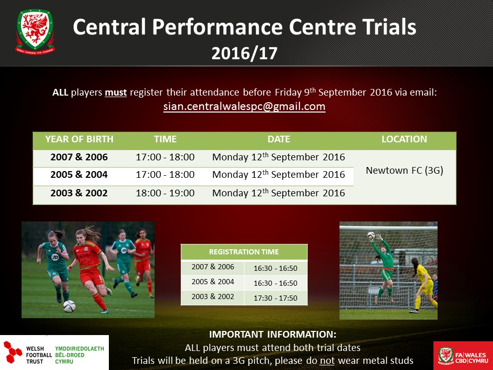 Central Girls' Performance Centre holding annual trials