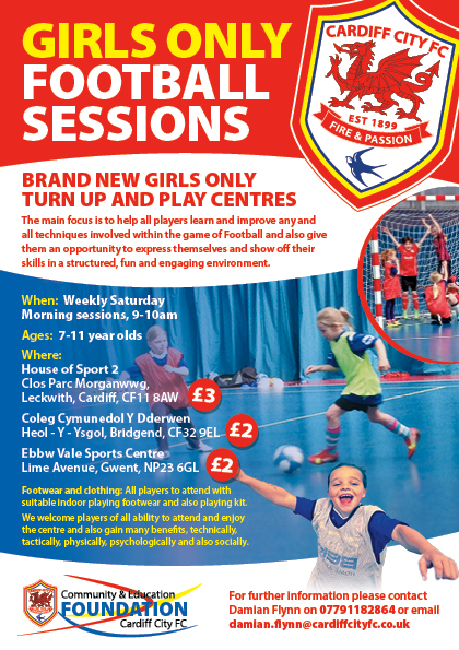 Girls Turn Up & Play Sessions at CCFC