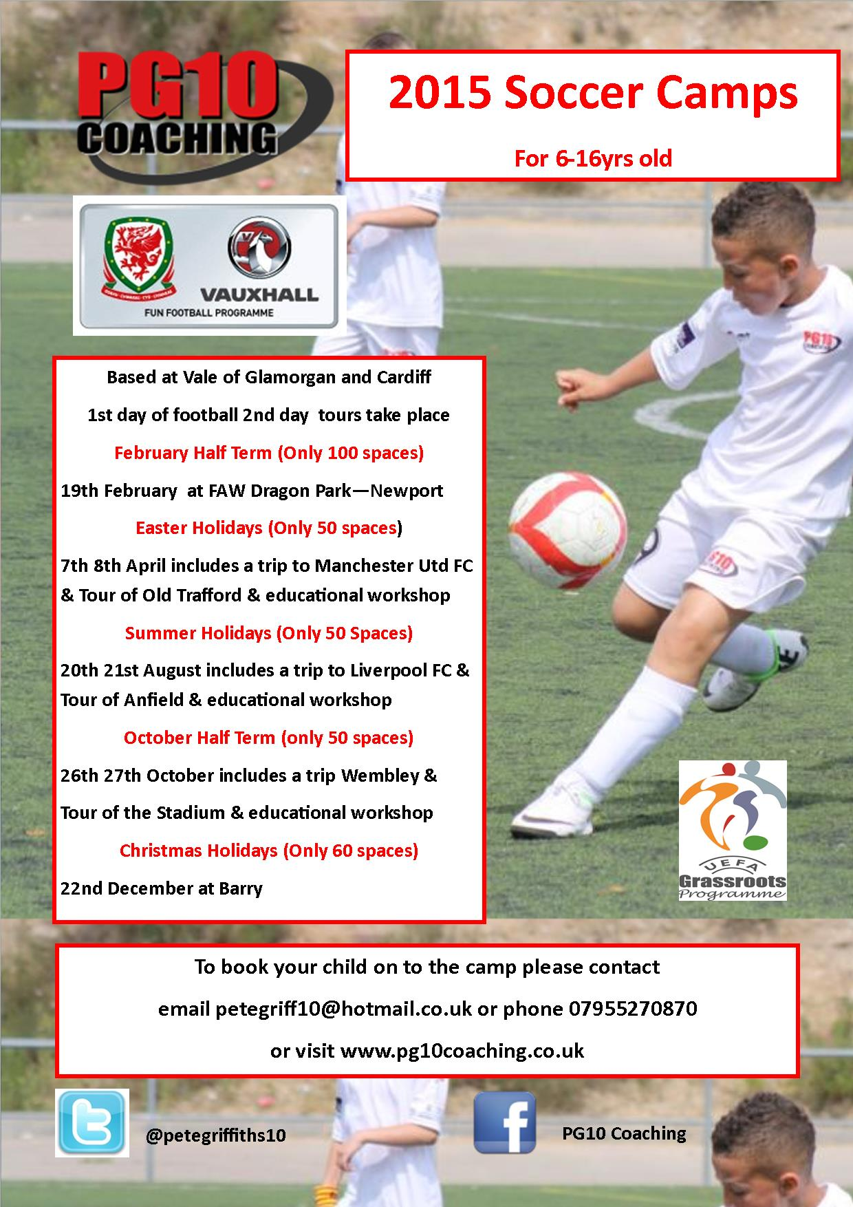 Half Term Football Opportunties