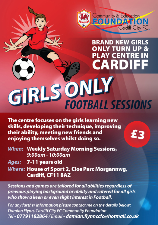 Cardiff City FC introduce a new girls only turn up & play centre