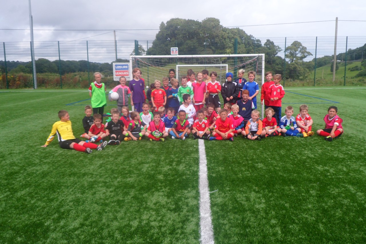 Hundreds of children enjoying Bangor City summer football camps