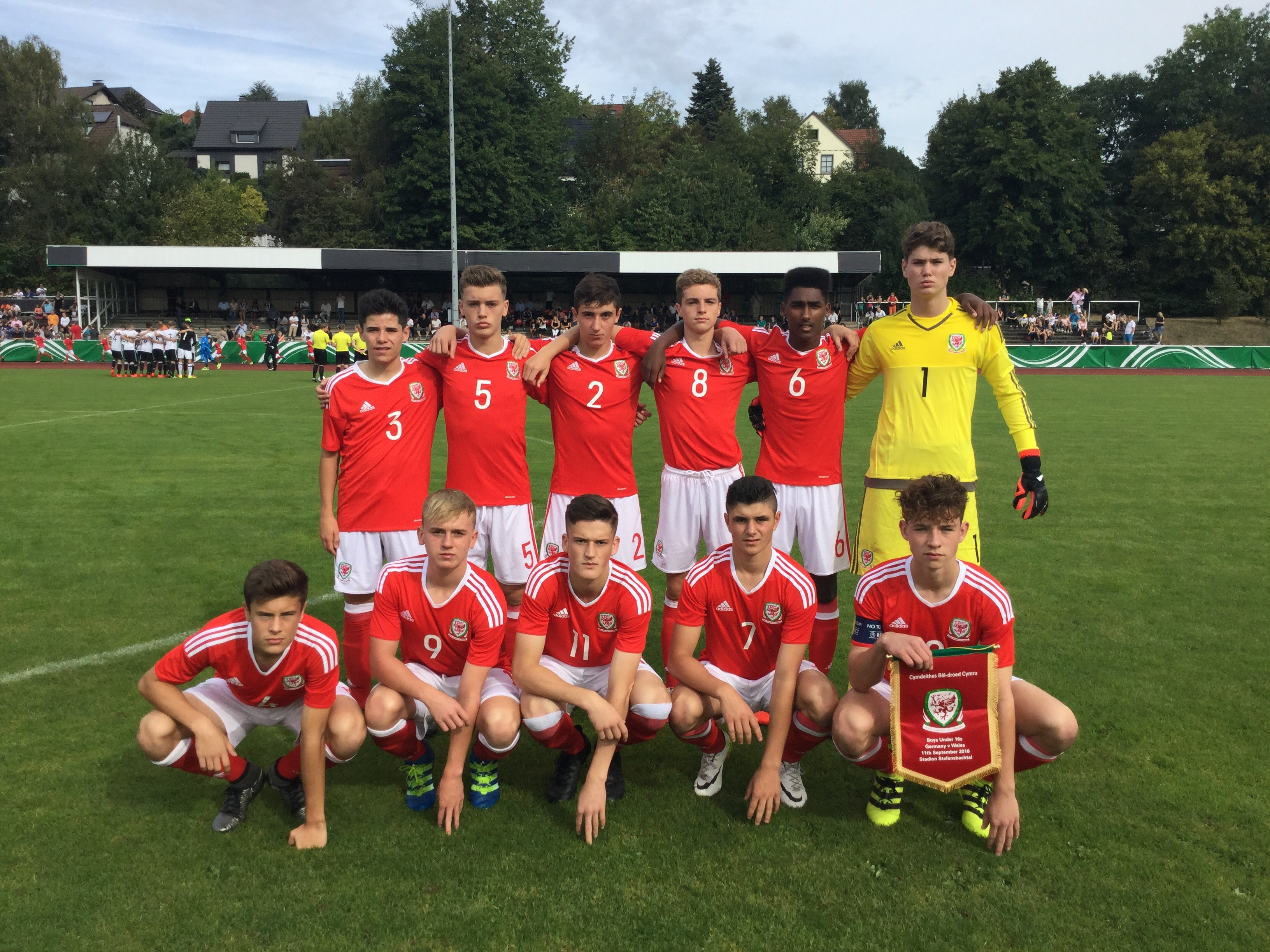 Germany U16's vs Wales U16's 11/09/16 Match Report