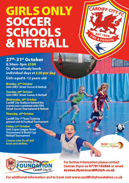Cardiff City October Girls Soccer Schools