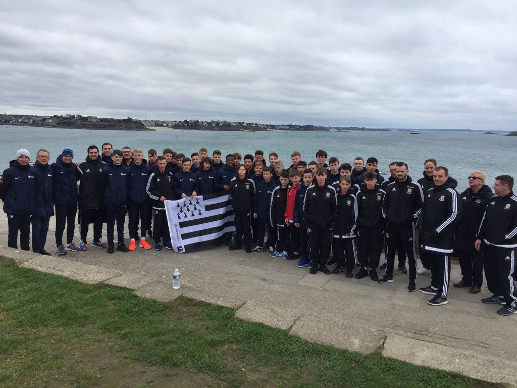 Wales U15 Boys and Girls enjoy cultural visits to St Malo and Cardiff with Brittany counterparts