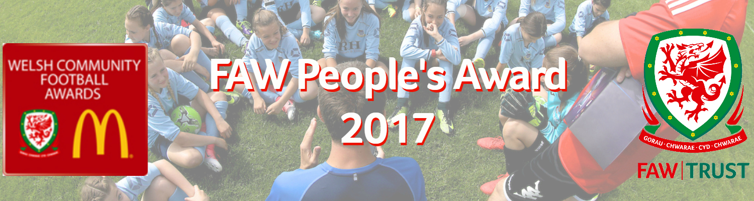 Here's why you should vote for Croesyceilig Athletic's Michael Gwillim for the People's Award 2017