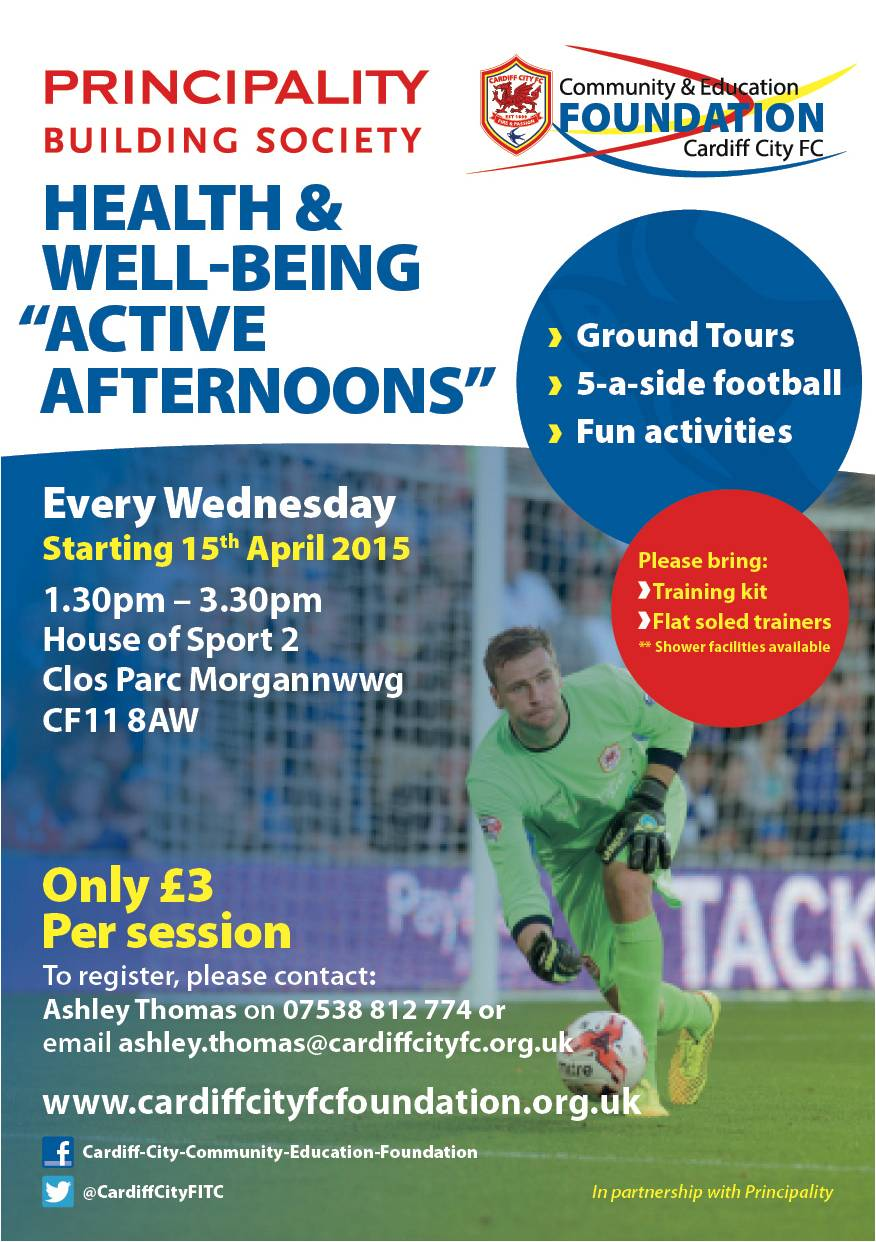 Cardiff City Health and Well Being Session