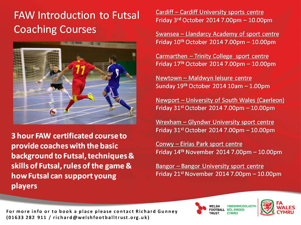 Introduction to Futsal course dates announced for season 2014/15