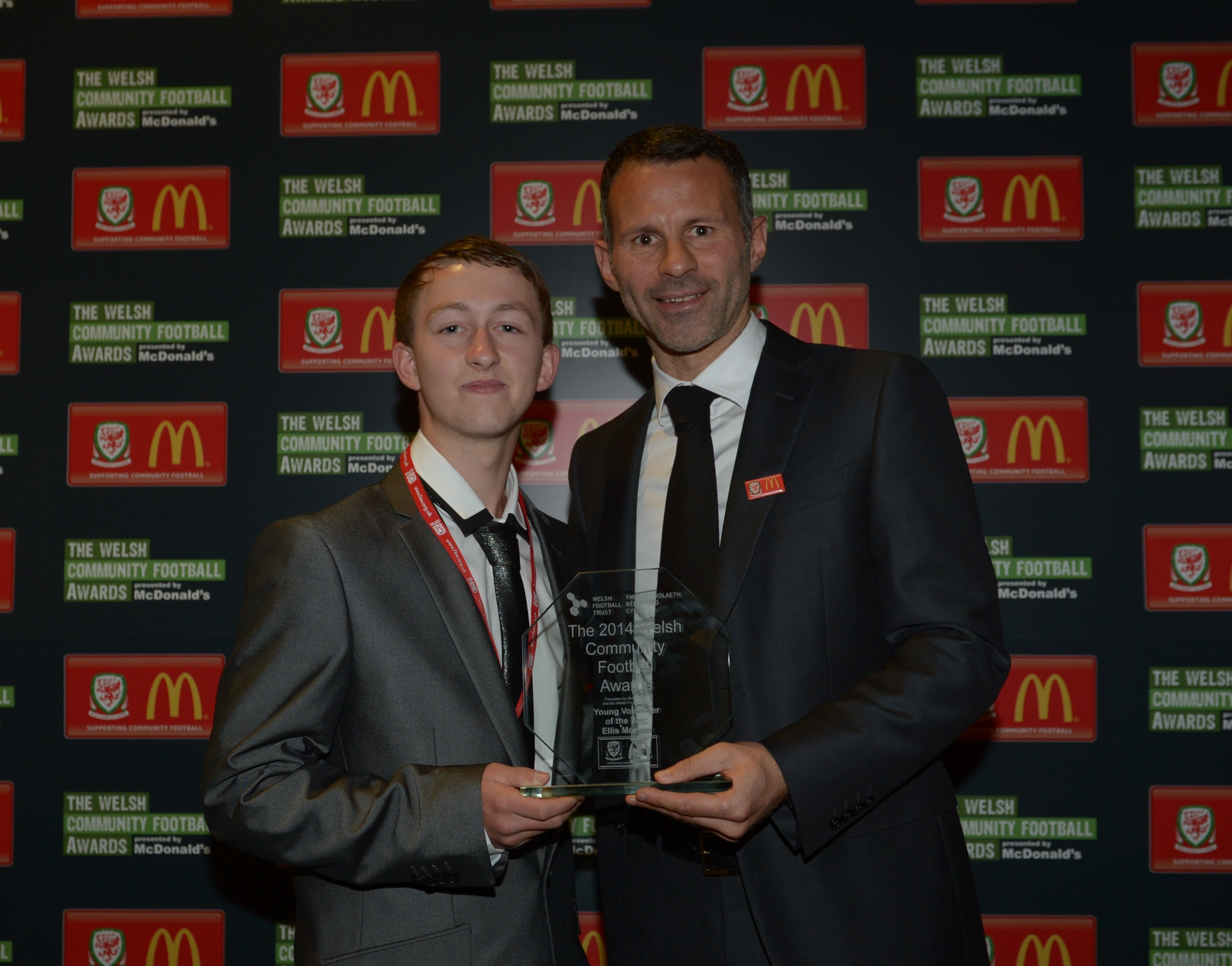 YOUNG EBBW VALE FOOTBALL VOLUNTEER COLLECTS NATIONAL AWARD
