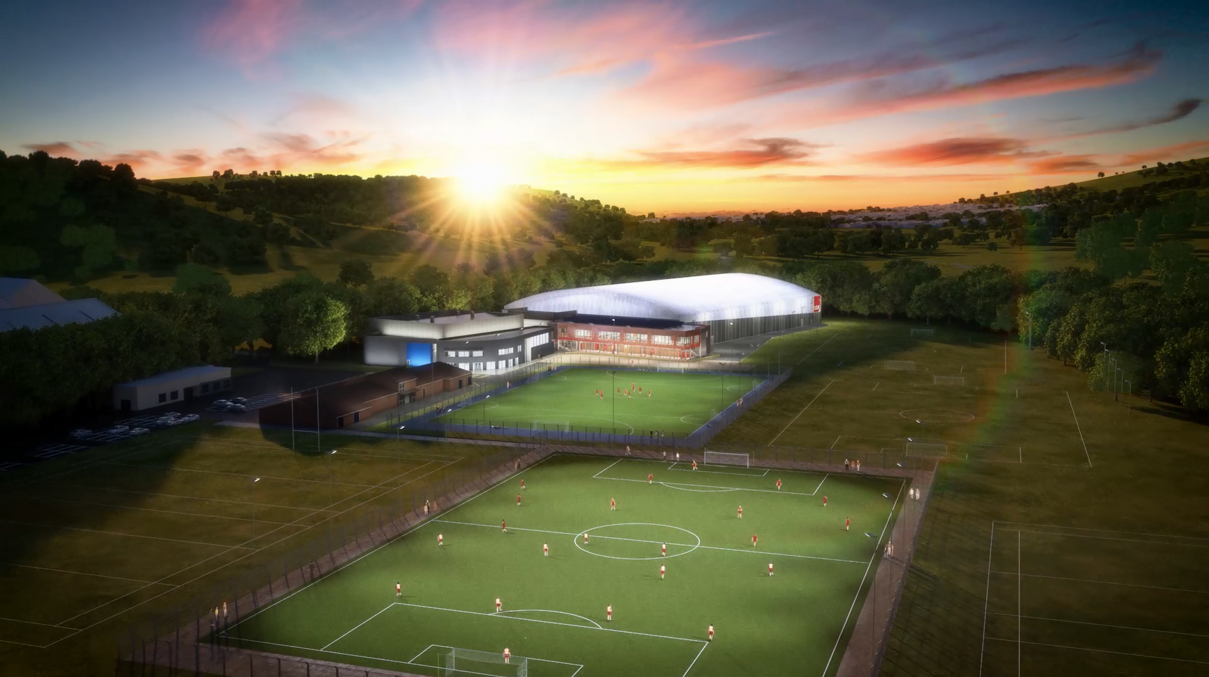 Wales' first indoor 3G football pitch is being built at USW
