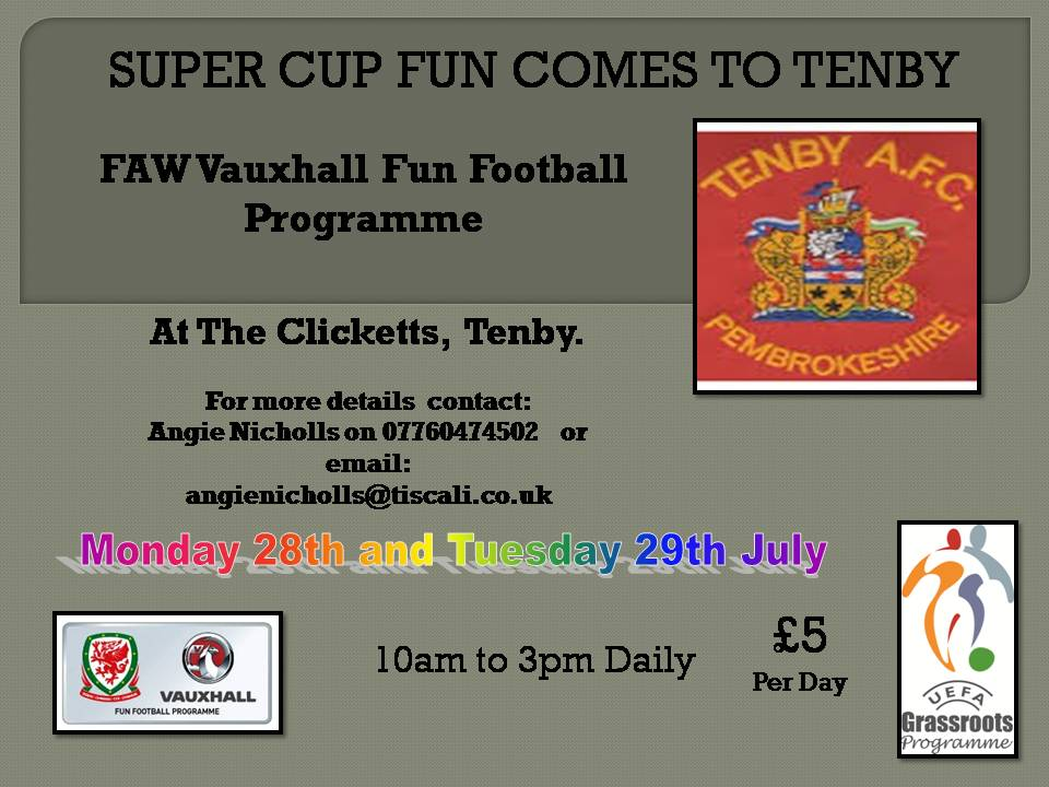 Tenby AFC bringing Football Fun to Pembrokeshire