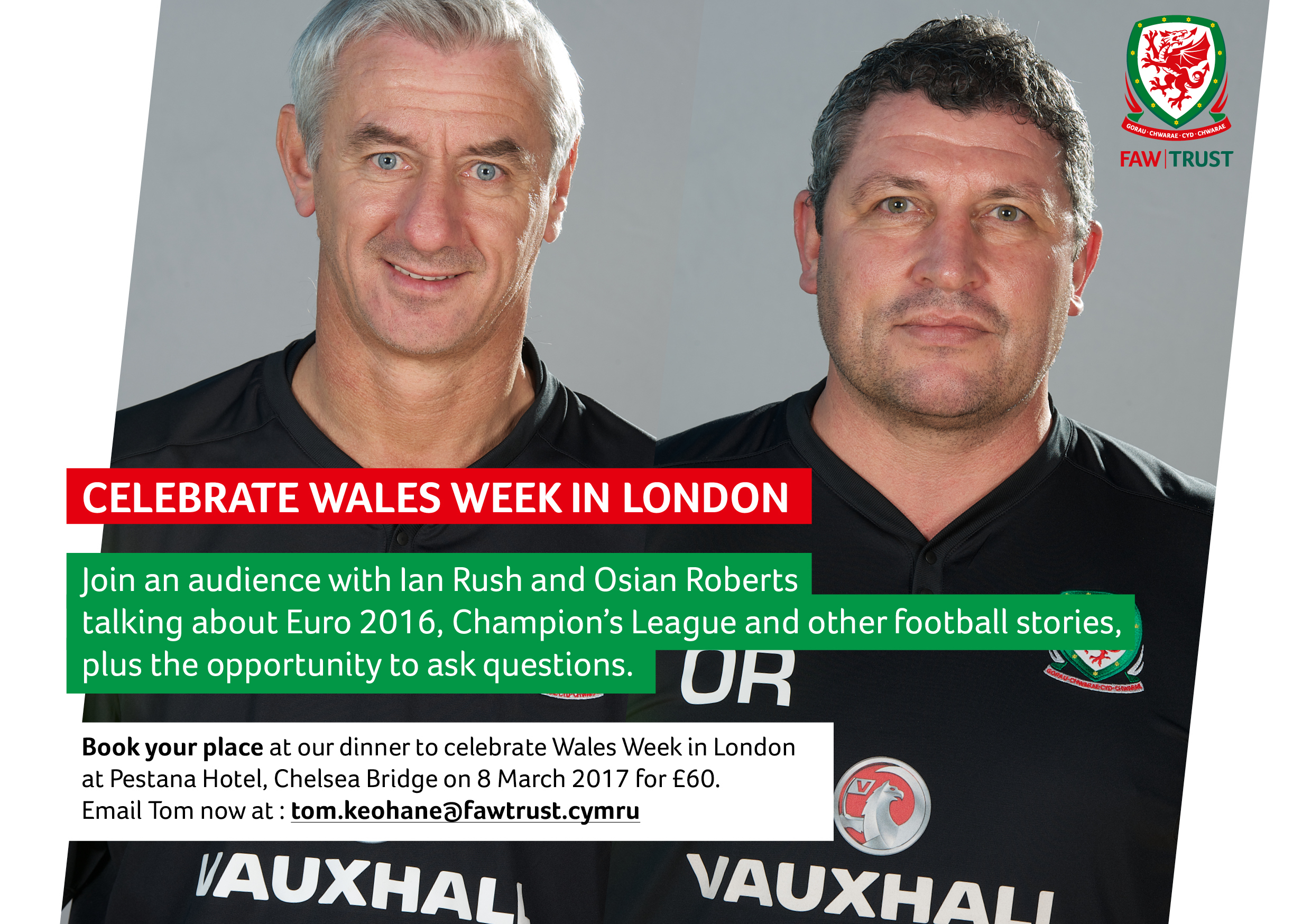 Ian Rush and Osian Roberts to celebrate Wales Week in London with Live Q&A