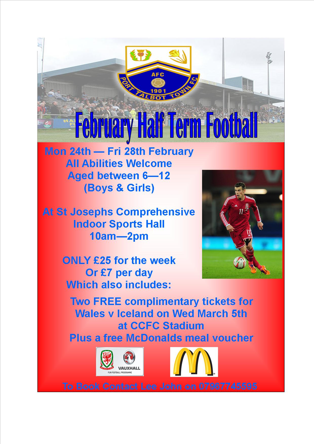 Half Term Soccer Fun in Port Talbot