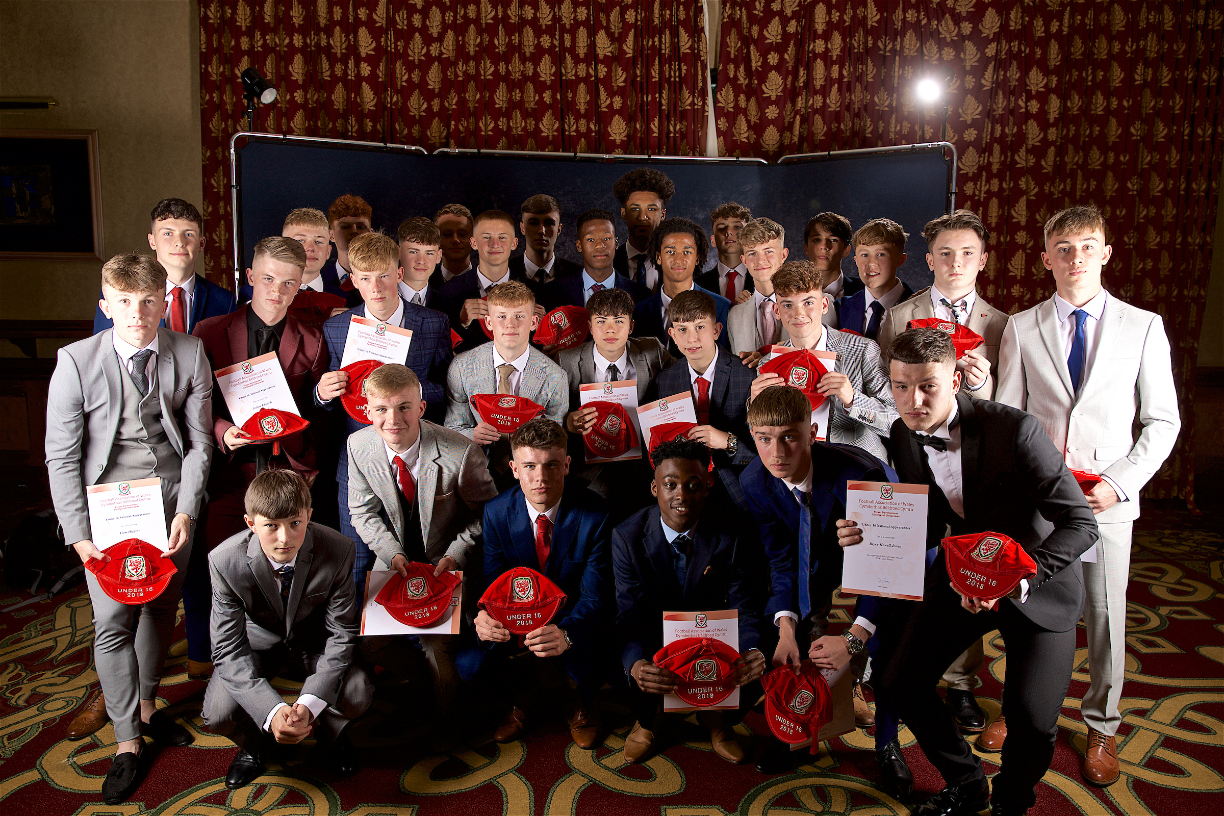 Wales U16 Boys receive their caps from Ian Rush - Image Gallery