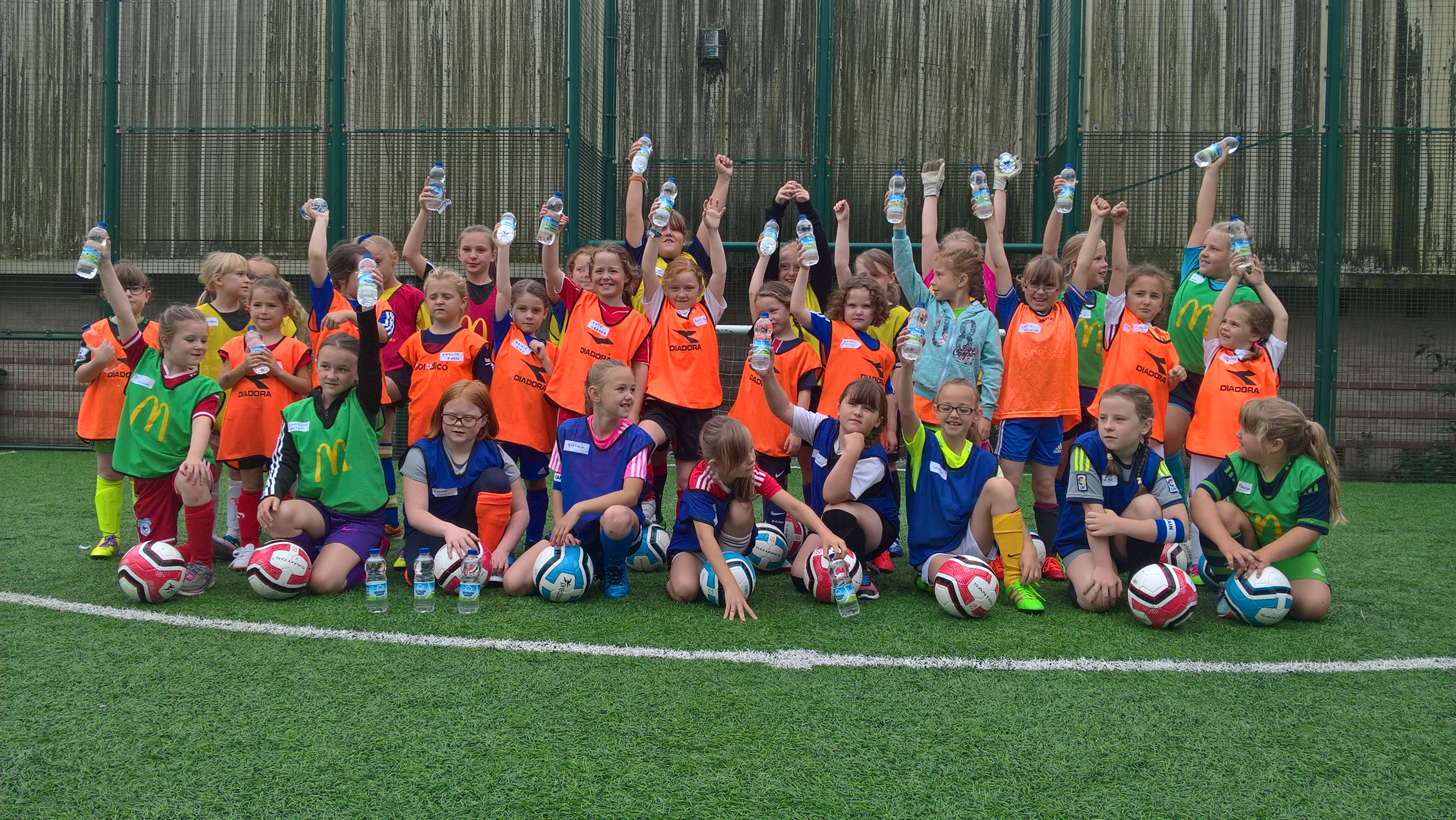 Baglan girls play historic first game after success of summer soccer camps