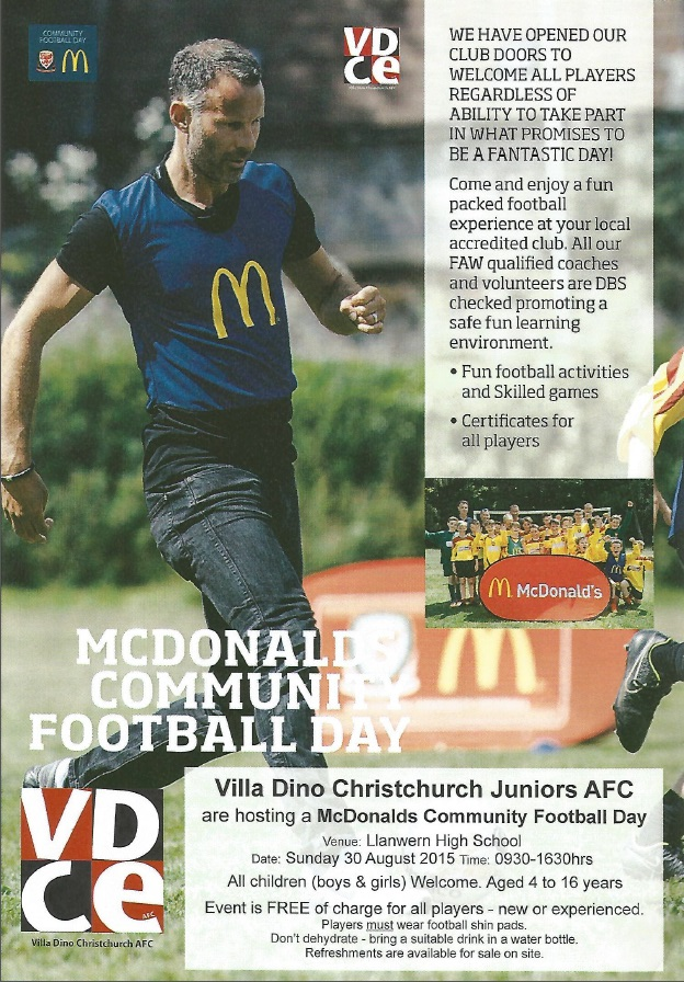 Villa Dino Christchurch Community Football Day