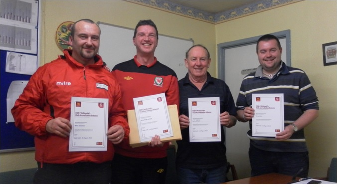 "Vale of Glamorgan League ""champions"" FAW Club Accreditation"