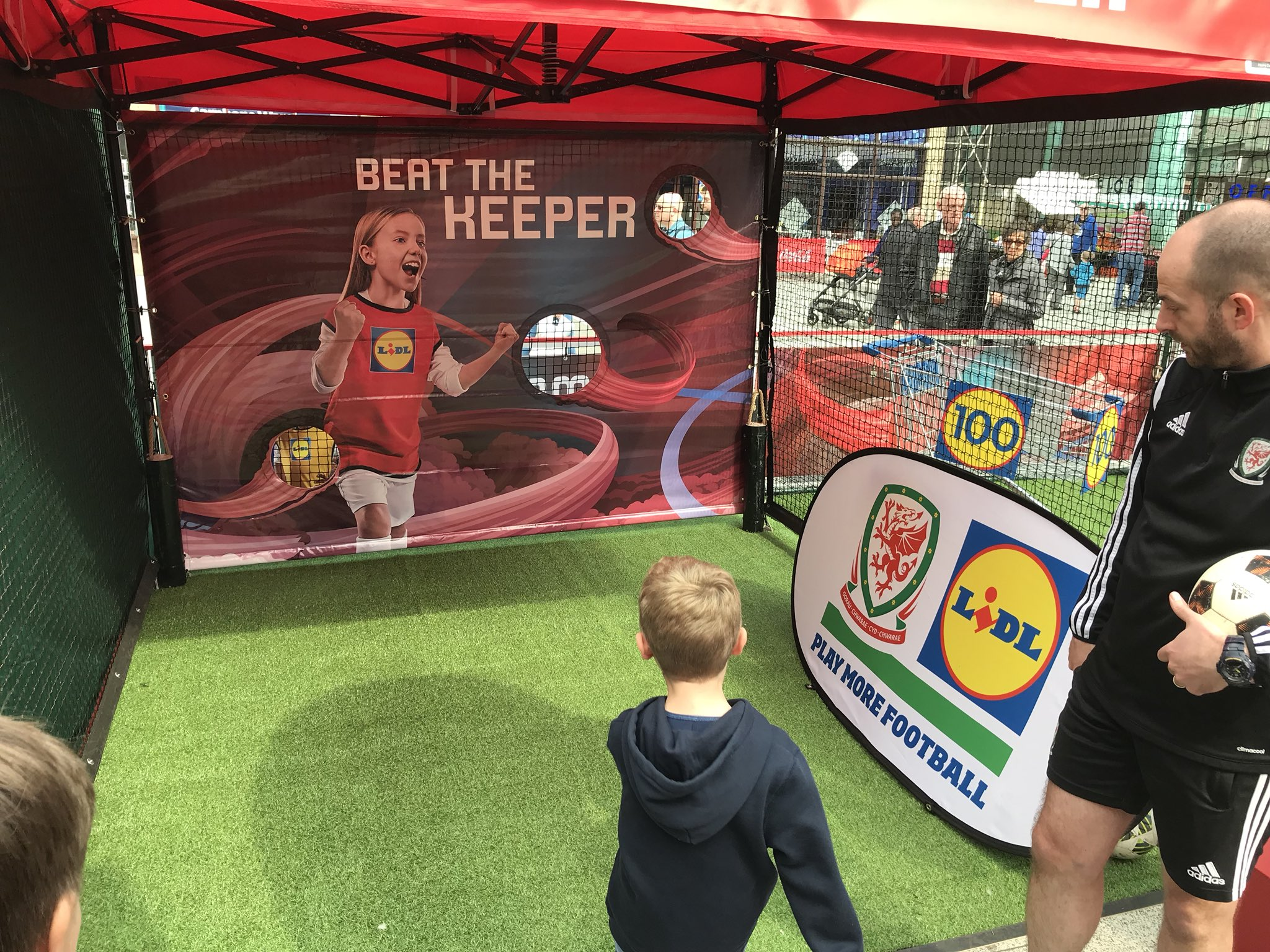 Hundreds of children inspired by Lidl Football Zones in Cardiff