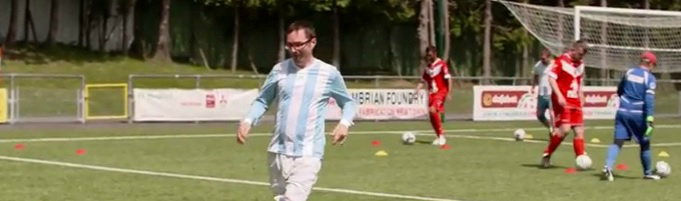 This video shows the therapeutic effect football can have on people with mental health issues