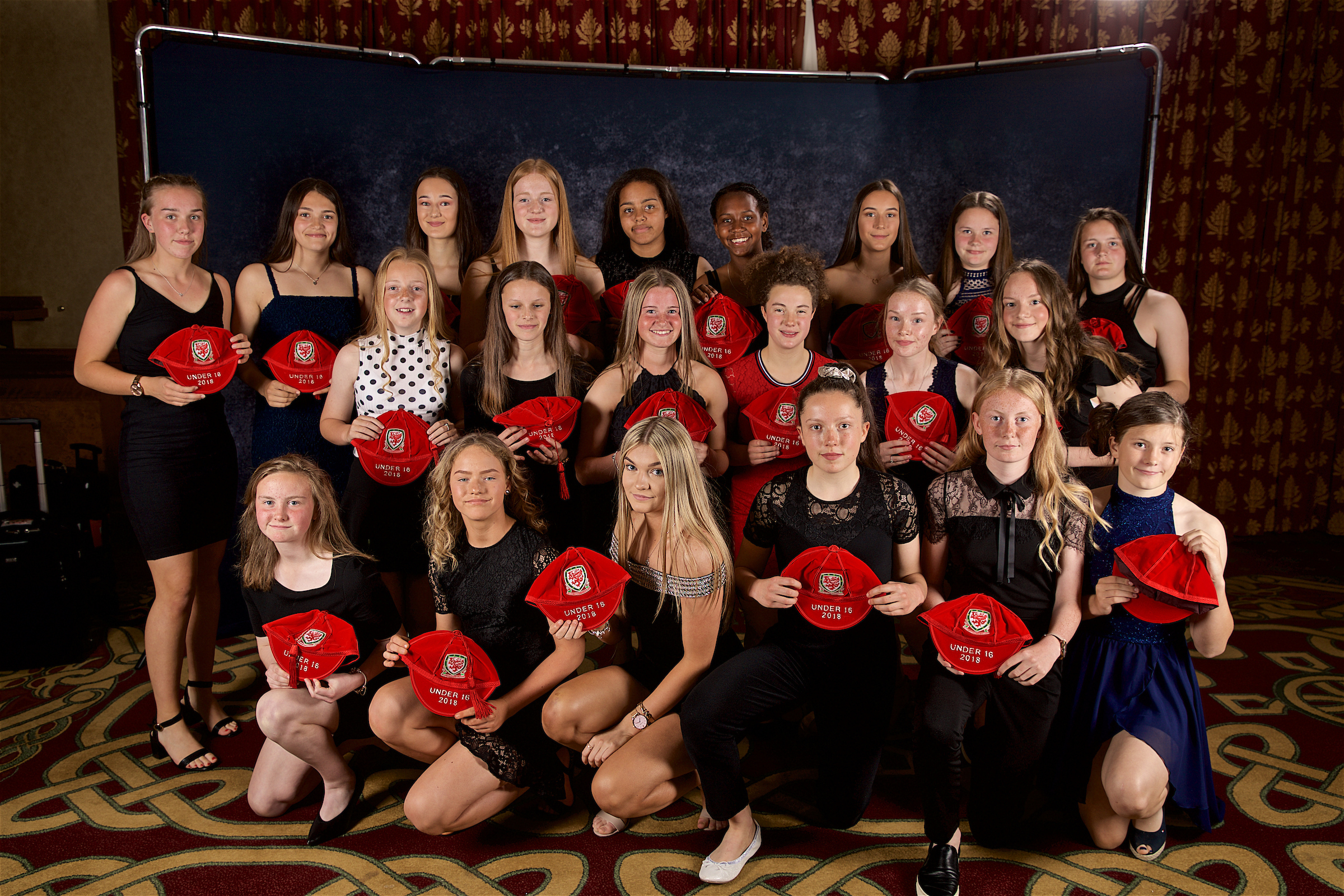 Wales U16 Girls receive their caps from star Gemma Evans - Image Gallery