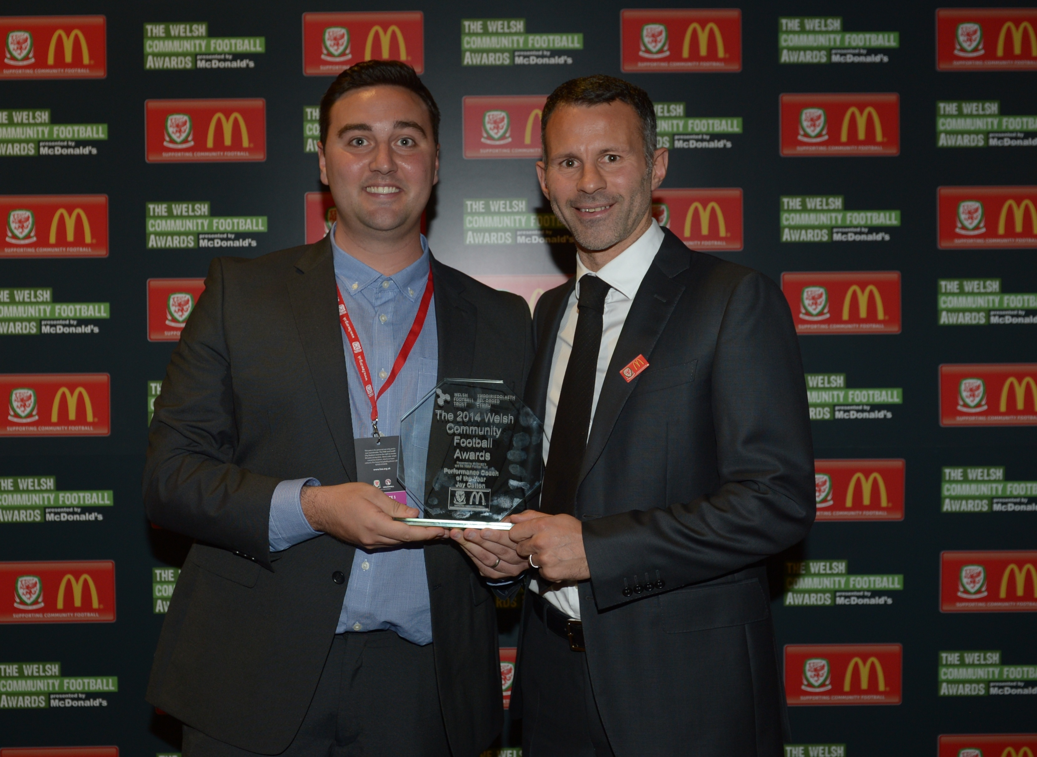 CONNAH'S QUAY FOOTBALL HERO COLLECTS NATIONAL FOOTBALL AWARD