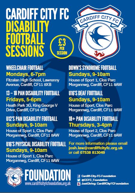 CCFC Disability Football Sessions