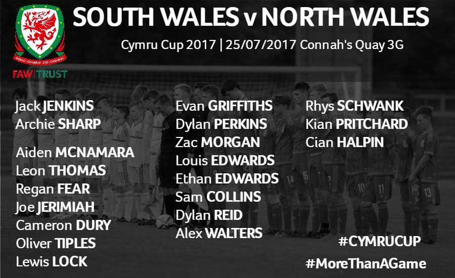 Here are the boys selected to contest the 2017 Cymru Cup