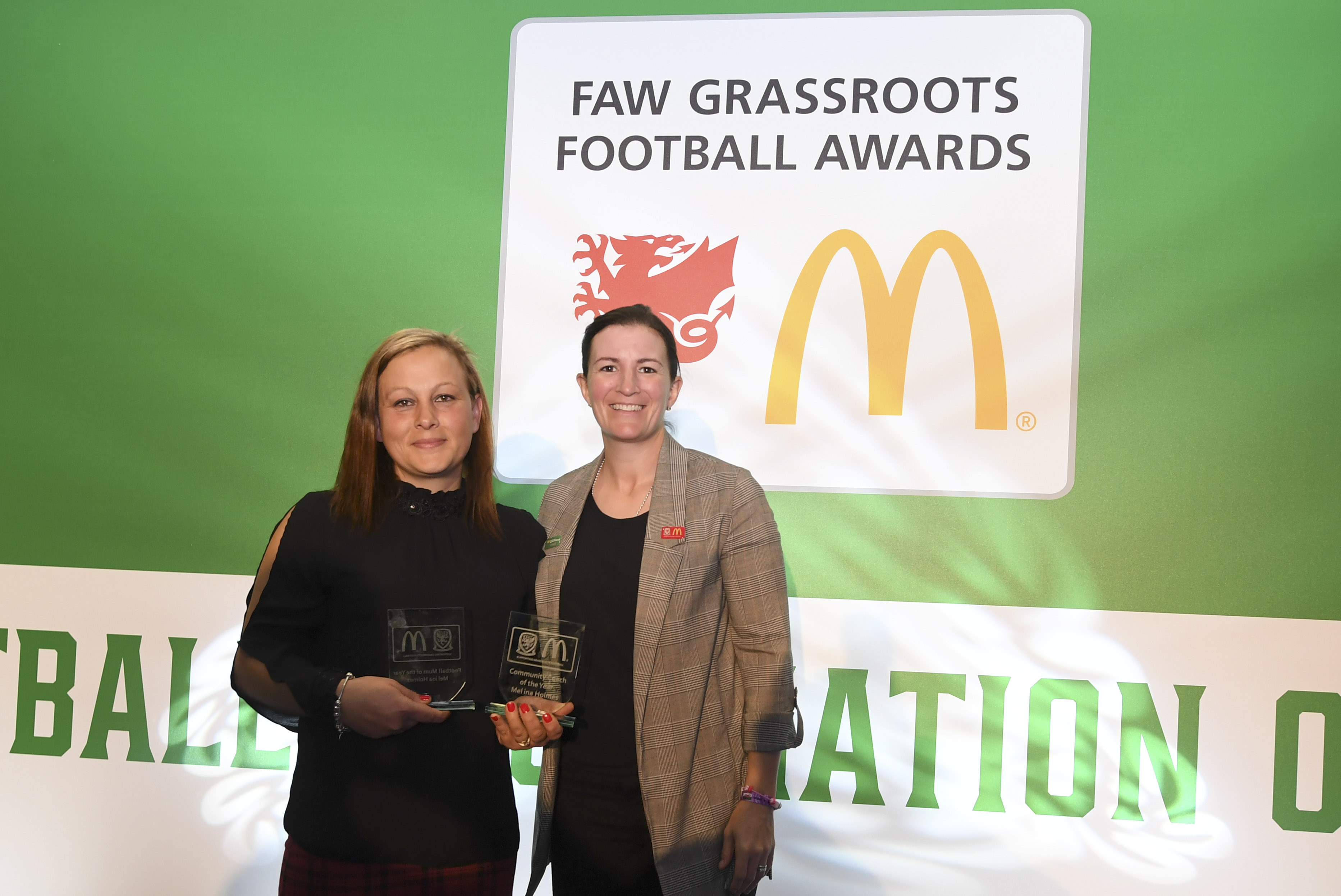 Melina Holmes scoops Mum of the Year after improving junior section at Penrhyncoch FC