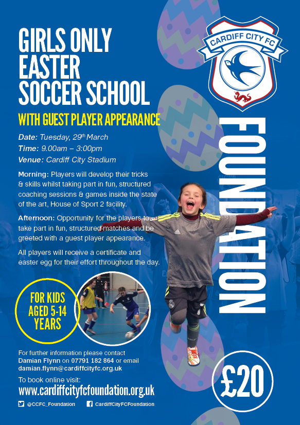 GIRLS ONLY EASTER SOCCER SCHOOL WITH CCFC