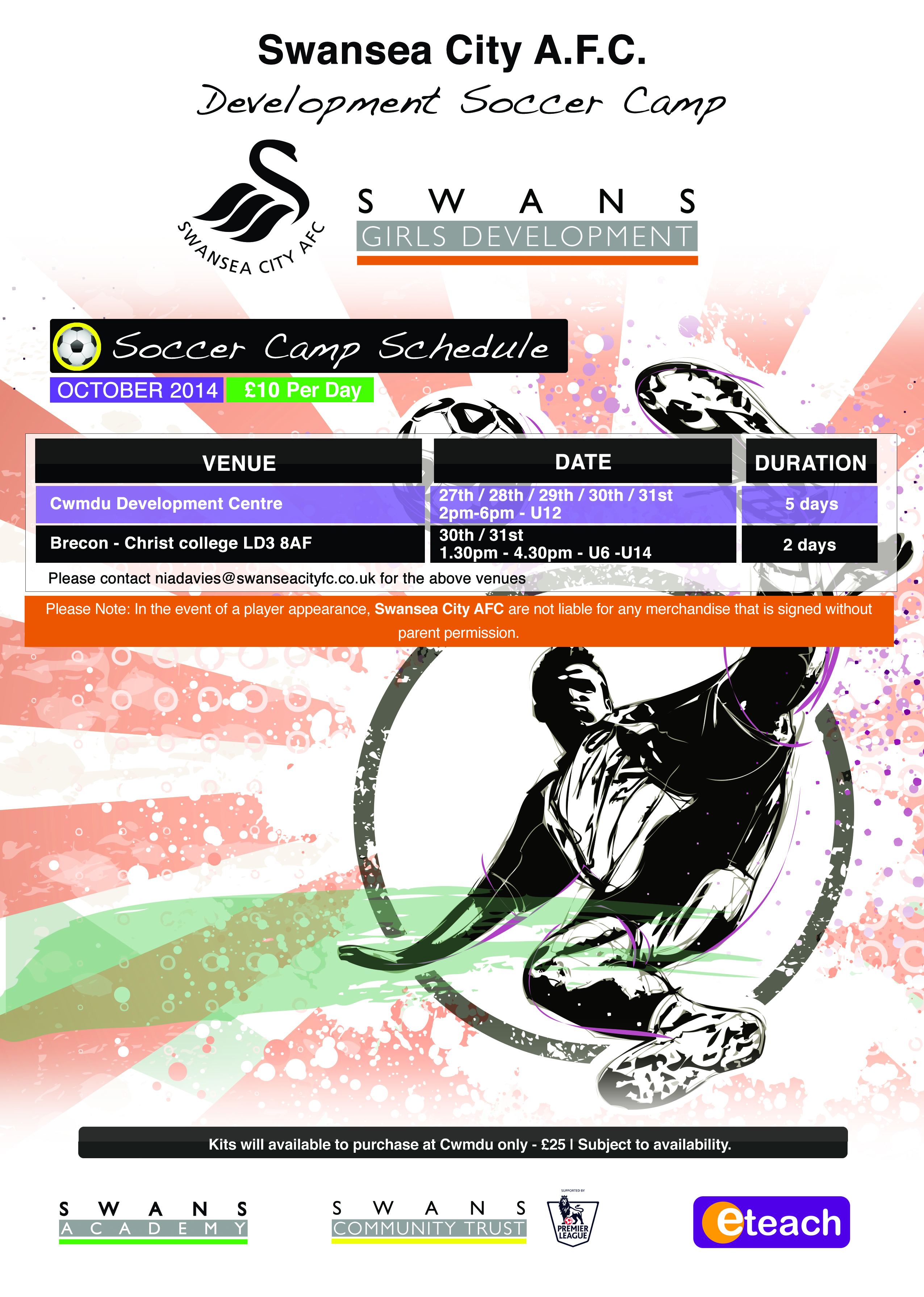 SCFC Soccer Camps - Central & West Wales