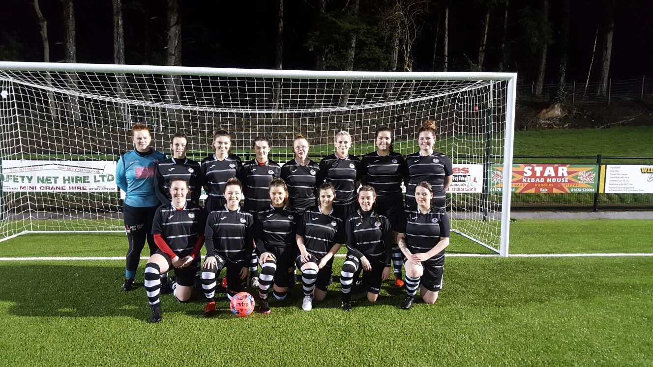 Bala Town Ladies kick-off for the first time