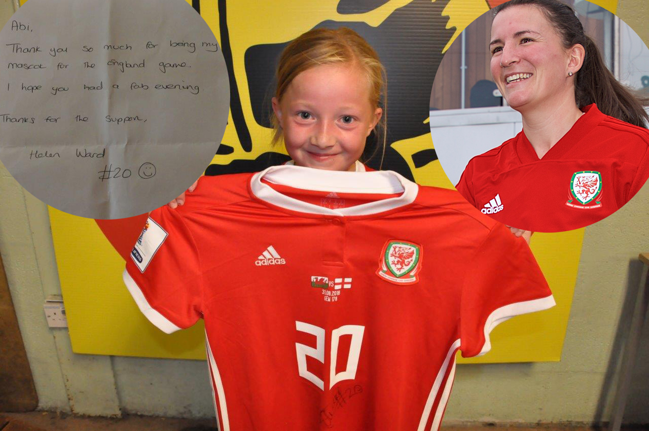 The heart-warming moment Helen Ward turned from super striker to super mum in the tunnel before Wales v England